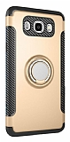 Eiroo Mage Fit Samsung Galaxy J7 2016 Standlı Ultra Koruma Gold Kılıf