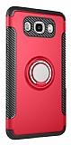 Eiroo Mage Fit Samsung Galaxy J7 2016 Standlı Ultra Koruma Kırmızı Kılıf