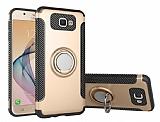 Eiroo Mage Fit Samsung Galaxy J7 Prime / J7 Prime 2 Standlı Ultra Koruma Gold Kılıf