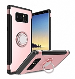 Eiroo Mage Fit Samsung Galaxy Note 8 Standlı Ultra Koruma Rose Gold Kılıf