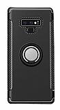 Eiroo Mage Fit Samsung Galaxy Note 9 Standlı Ultra Koruma Siyah Kılıf
