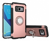 Eiroo Mage Fit Samsung Galaxy S8 Plus Standlı Ultra Koruma Rose Gold Kılıf
