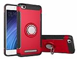 Eiroo Mage Fit Xiaomi Redmi 4A Standlı Ultra Koruma Kırmızı Kılıf