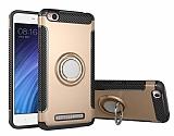 Eiroo Mage Fit Xiaomi Redmi 4A Standlı Ultra Koruma Gold Kılıf