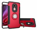 Eiroo Mage Fit Xiaomi Redmi Note 4 / Redmi Note 4X Standlı Ultra Koruma Kırmızı Kılıf