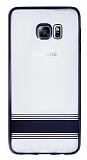 Eiroo Magical Nickel Samsung Galaxy S6 Edge Plus Siyah �izgili �effaf Silikon K�l�f