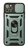 Eiroo Magnet Lens iPhone 11 Pro Ultra Koruma Yeşil Kılıf