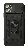 Eiroo Magnet Lens iPhone 11 Pro Ultra Koruma Siyah Kılıf