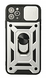 Eiroo Magnet Lens iPhone 11 Pro Ultra Koruma Silver Kılıf
