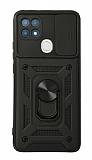 Eiroo Magnet Lens Oppo A15 / A15s Ultra Koruma Siyah Kılıf