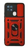 Eiroo Magnet Lens Oppo A15 / A15s Ultra Koruma Kırmızı Kılıf