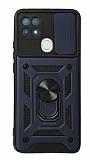 Eiroo Magnet Lens Oppo A15 / A15s Ultra Koruma Lacivert Kılıf