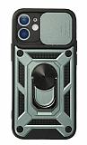 Eiroo Magnet Lens iPhone 12 Mini 5.4 inç Ultra Koruma Yeşil Kılıf
