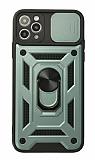 Eiroo Magnet Lens iPhone 12 Pro Max 6.7 inç Ultra Koruma Yeşil Kılıf
