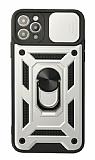 Eiroo Magnet Lens iPhone 12 Pro Max 6.7 inç Ultra Koruma Silver Kılıf