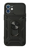 Eiroo Magnet Lens iPhone 12 / 12 Pro 6.1 inç Ultra Koruma Siyah Kılıf