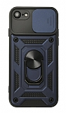 Eiroo Magnet Lens iPhone 7 / 8 Ultra Koruma Lacivert Kılıf