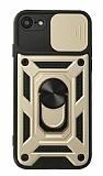 Eiroo Magnet Lens iPhone 7 / 8 Ultra Koruma Gold Kılıf