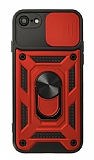 Eiroo Magnet Lens iPhone 7 / 8 Ultra Koruma Kırmızı Kılıf