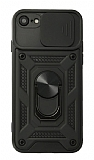 Eiroo Magnet Lens iPhone 7 / 8 Ultra Koruma Siyah Kılıf
