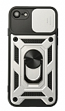 Eiroo Magnet Lens iPhone 7 / 8 Ultra Koruma Silver Kılıf