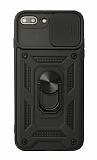 Eiroo Magnet Lens iPhone 7 Plus / 8 Plus Ultra Koruma Siyah Kılıf