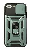 Eiroo Magnet Lens iPhone 7 Plus / 8 Plus Ultra Koruma Yeşil Kılıf