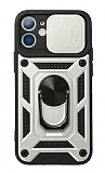 Eiroo Magnet Lens iPhone 11 Ultra Koruma Silver Kılıf
