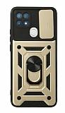 Eiroo Magnet Lens Oppo A15 / A15s Ultra Koruma Gold Kılıf