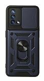 Eiroo Magnet Lens Oppo F19 Ultra Koruma Lacivert Kılıf