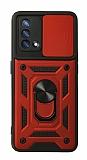 Eiroo Magnet Lens Oppo F19 Ultra Koruma Kırmızı Kılıf
