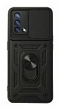 Eiroo Magnet Lens Oppo F19 Ultra Koruma Siyah Kılıf