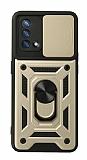Eiroo Magnet Lens Oppo F19 Ultra Koruma Gold Kılıf