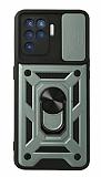 Eiroo Magnet Lens Oppo Reno5 F Ultra Koruma Yeşil Kılıf