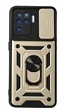 Eiroo Magnet Lens Oppo Reno5 F Ultra Koruma Gold Kılıf