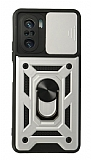 Eiroo Magnet Lens Xiaomi Poco F3 Ultra Koruma Silver Kılıf