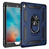 Eiroo Magnet Ring Apple iPad 9.7 2018 Standlı Ultra Koruma Mavi Kılıf
