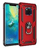 Eiroo Magnet Ring Huawei Mate 20 Pro Ultra Koruma Kırmızı Kılıf