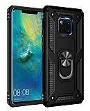 Eiroo Magnet Ring Huawei Mate 20 Pro Ultra Koruma Siyah Kılıf