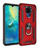Eiroo Magnet Ring Huawei Mate 30 Lite Ultra Koruma Kırmızı Kılıf