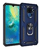 Eiroo Magnet Ring Huawei Mate 30 Lite Ultra Koruma Lacivert Kılıf