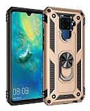 Eiroo Magnet Ring Huawei Mate 30 Lite Ultra Koruma Gold Kılıf