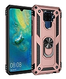 Eiroo Magnet Ring Huawei Mate 30 Lite Ultra Koruma Rose Gold Kılıf