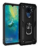 Eiroo Magnet Ring Huawei Mate 30 Lite Ultra Koruma Siyah Kılıf