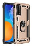 Eiroo Magnet Ring Huawei P Smart 2021 Ultra Koruma Gold Kılıf