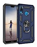 Eiroo Magnet Ring Huawei P20 Lite Ultra Koruma Lacivert Kılıf