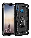 Eiroo Magnet Ring Huawei P20 Lite Ultra Koruma Siyah Kılıf