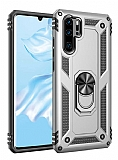 Eiroo Magnet Ring Huawei P30 Pro Ultra Koruma Silver Kılıf