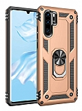Eiroo Magnet Ring Huawei P30 Pro Ultra Koruma Gold Kılıf