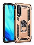 Eiroo Magnet Ring Huawei P30 Ultra Koruma Gold Kılıf